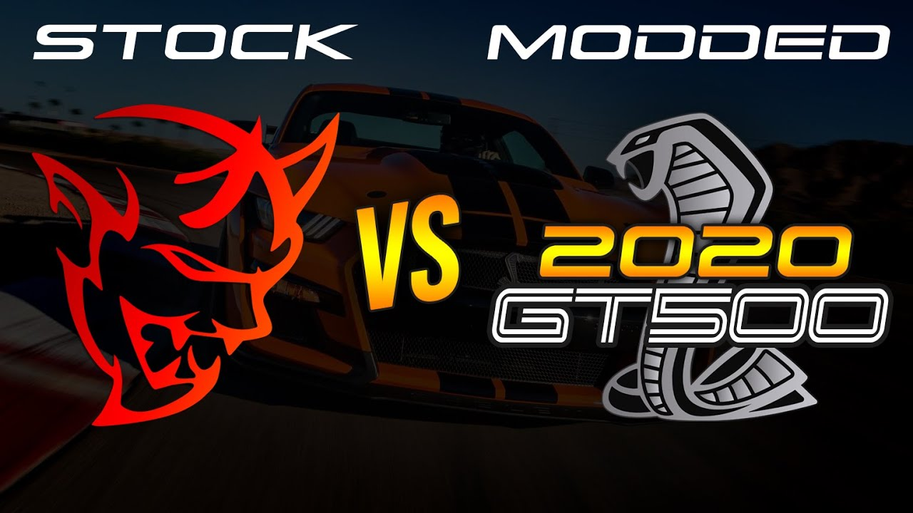 Modded 2020 GT500 vs Dodge Demon (Stock) 1/4 MILE DRAG ...