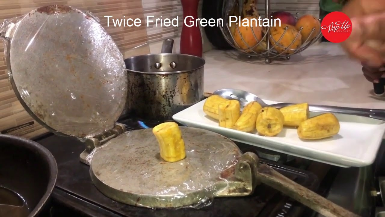 How To Make Twice Fried Green Plantain The Jamaican Way ...