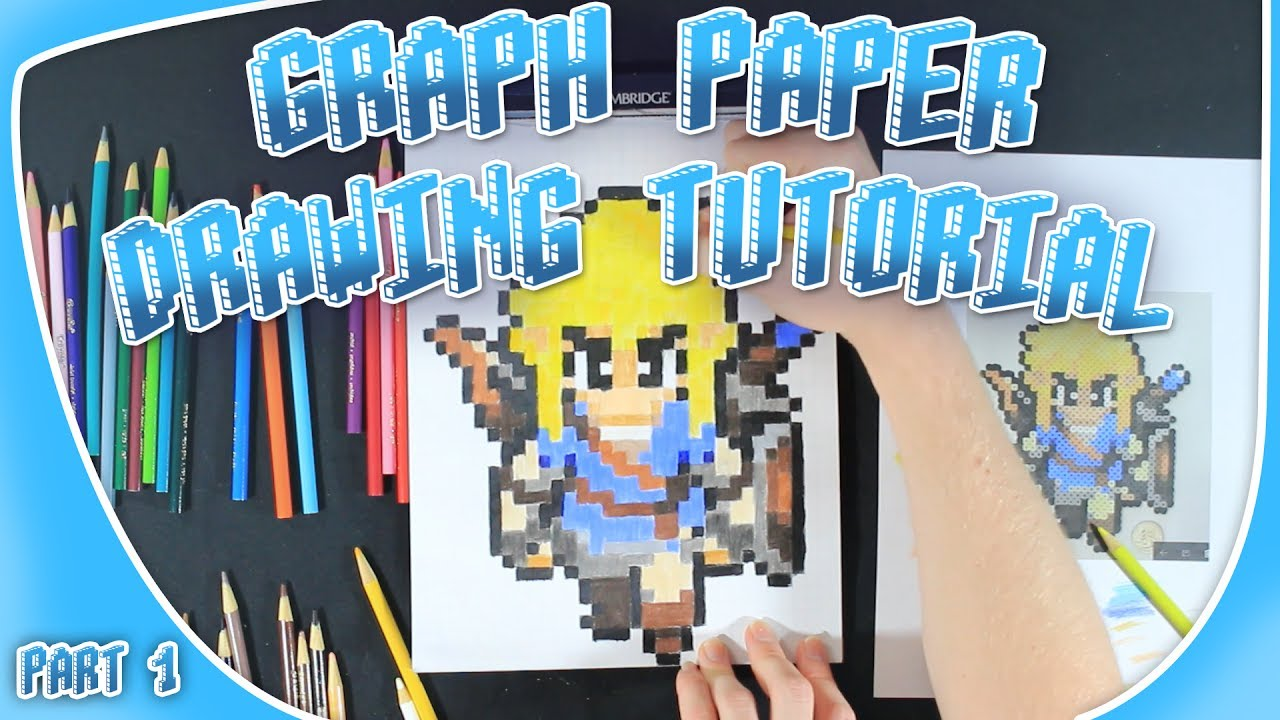 how to draw link from breath of the wild part 1 graph paper pixel