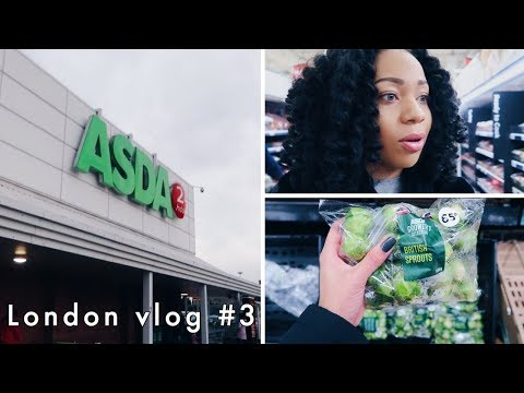 FIRST TIME GROCERY SHOPPING IN A BRITISH SUPERMARKET! // London Vlog #3