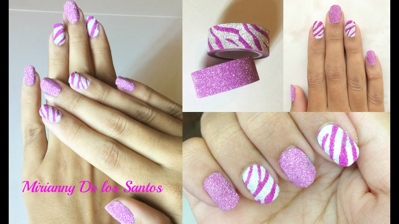 Uñas con Cintas Adhesivas | Washi Tape Super Facil l Mirianny - YouTube