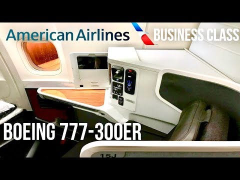 American Airlines Business Class Boeing 777-300ER Los Angeles to Hong Kong