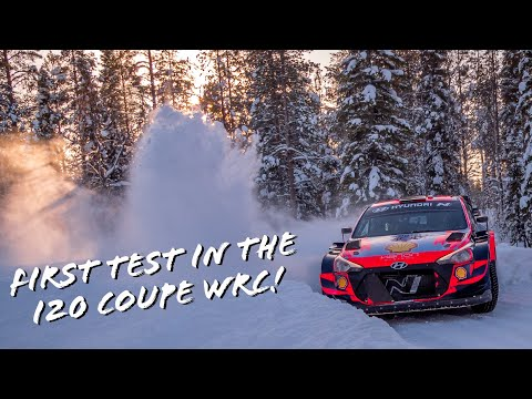 Oliver Solberg Test Artic Rally 2021