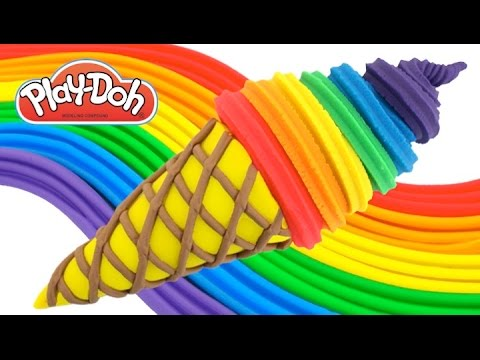 Thumbnail: Play-Doh How to Make a Waffle Cone with Rainbow Ice Cream * Creative Fun for Kids RainbowLearning