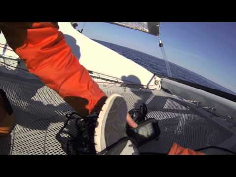 Panic Button F25c trimaran - YouTube