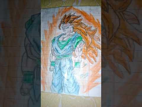Vẽ SonGoku SSJO3 buồn ngồi vẽ chơi