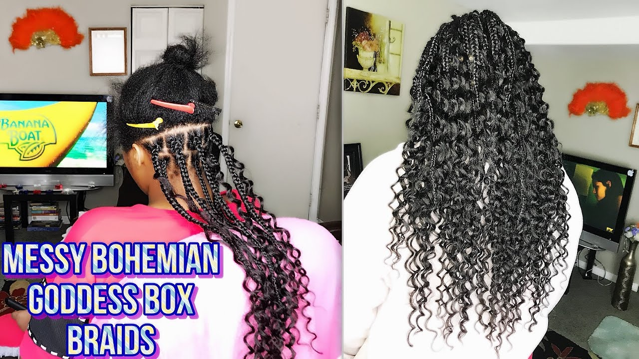 HOW TO - BOHEMIAN GODDESS BOX BRAIDS - CURLY ENDS