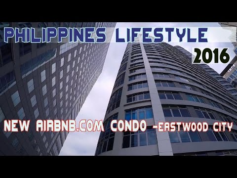 Airbnb.com condo Eastwood city Manila Philippines | Asia Travel VLOG