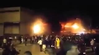 حريق مصنع نقاوس