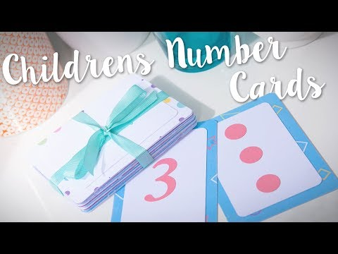 DIY: Children's Number Cards - Sizzix