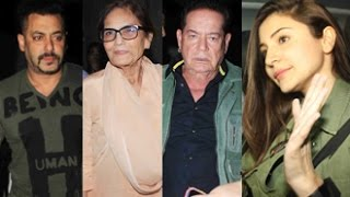 Salman khan watches 'sultan' with family | special screening | salma, salim, prem chopra