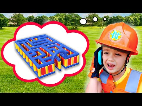 Download Niki in Giant Inflatable Maze Challenge