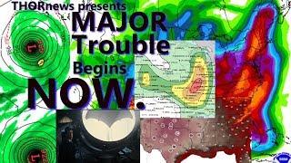 Alert! GIANT Bullseye of Danger & Heat dome over USA. MAJOR floods for East Coast coming