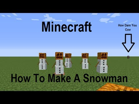 How to make a snowman in minecraft live commentary for How to create a snowman