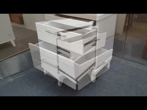 Bedside Table Katy 3 Drawer in White Colour Malaysian Made