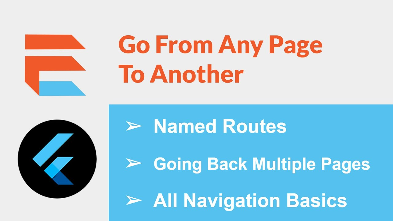 Everything You Should Know Navigating Pages (Named Routes + Pop Multiple Pages) - Flutter