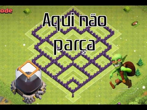 layout cv7 guerra layout th7 war clash of clans youtube