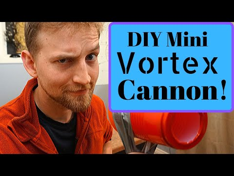 Smoke Ring Cannon. - Fun And Easy Air Vortex Using Bernoulli's Equation.