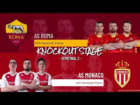 Semifinal 2   AS Roma vs. AS Monaco   Highlights eFootball.Pro IQONIQ Knockout Stage 2020-2021
