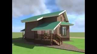 видео Проект блочного двухэтажного дома площадью 146.10 м2