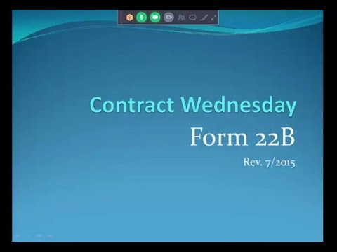 MLP Contract Training - Form 22B   Contingent on the sale of another residence 6 6 16