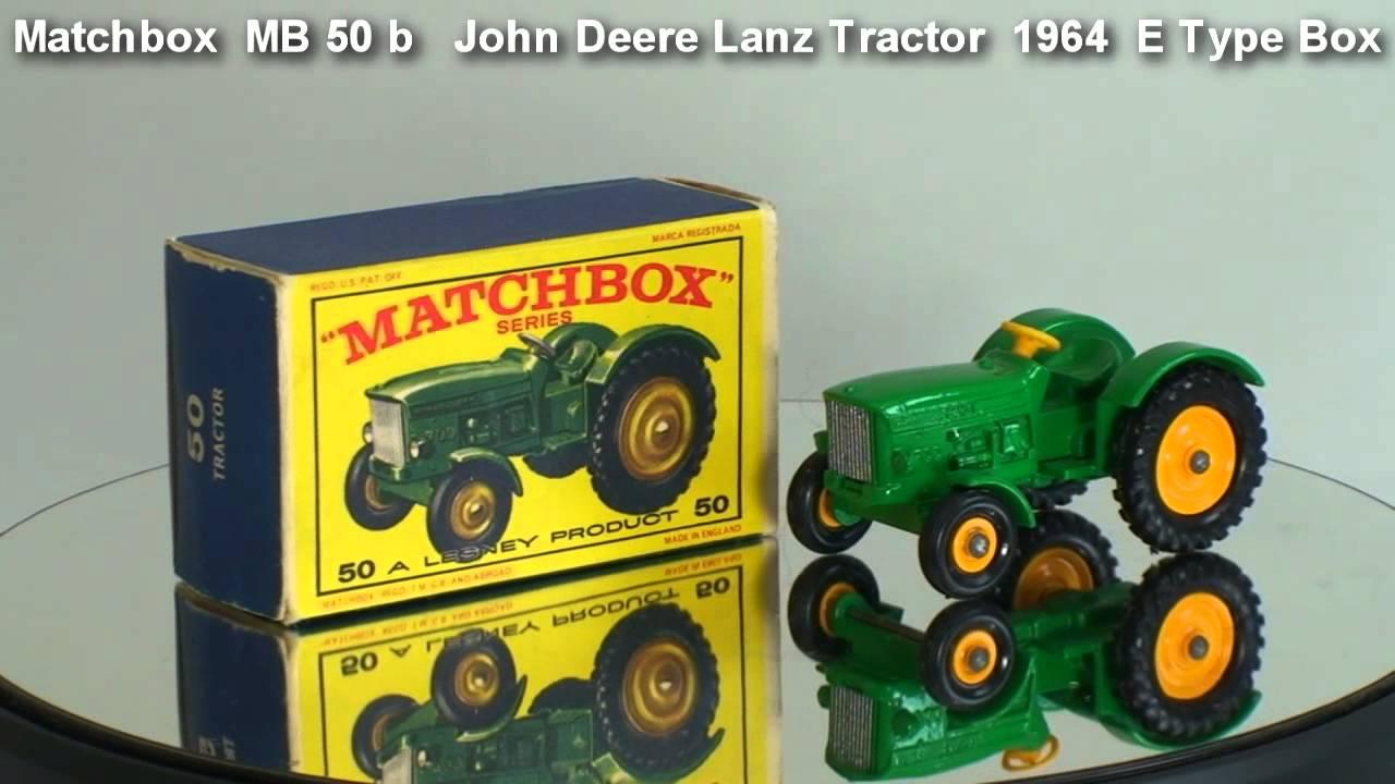 John Deere Matchbox Tractor : John deere lanz tractor matchbox mb b youtube