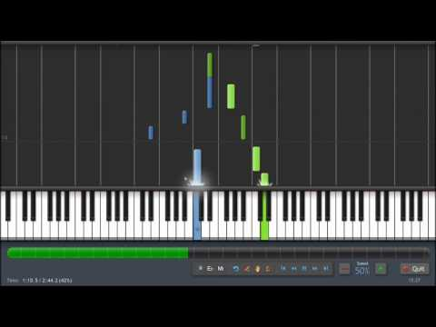 Shrek -  Fairytale - Piano Tutorial (50%) Synthesia
