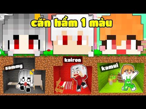 Kairon Và Hội Chị Em Xây '' Căn Hầm Bí Mật Một Màu '' Trong Làng Hero Team Minecraft
