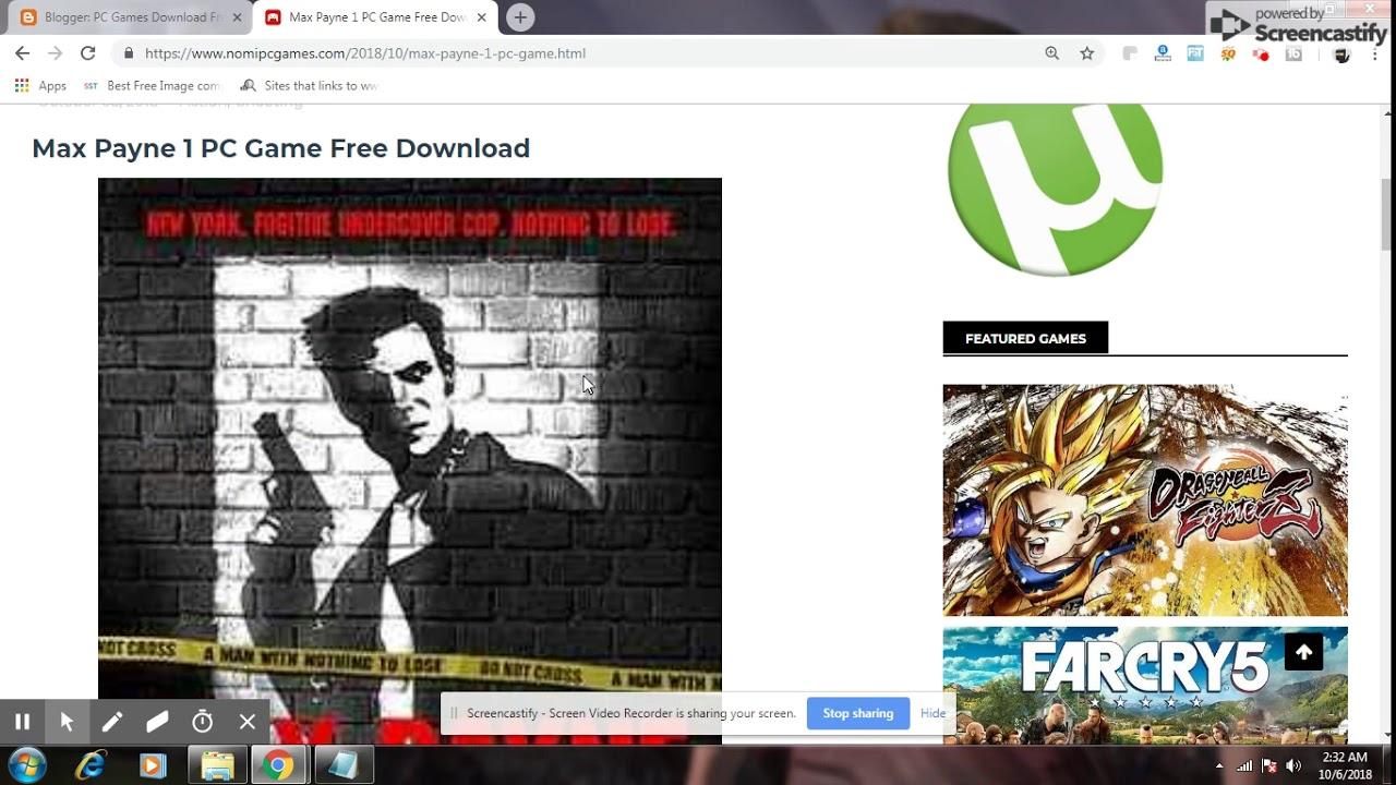 max payne 1 game free download utorrent