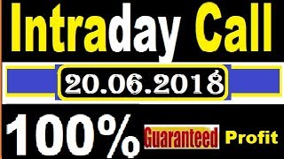 IntraDay Top 3 Jackpot CALL 20.06.2018 || today stock || intraday tips || breaking news