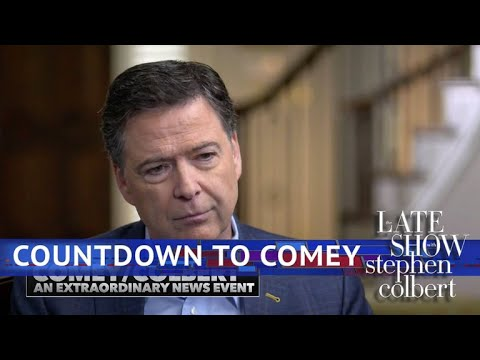 Late Show's James Comey Hype Video