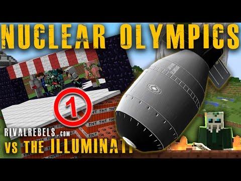First Nuclear 🏆 Olympics vs Illuminati Minecraft TNT House