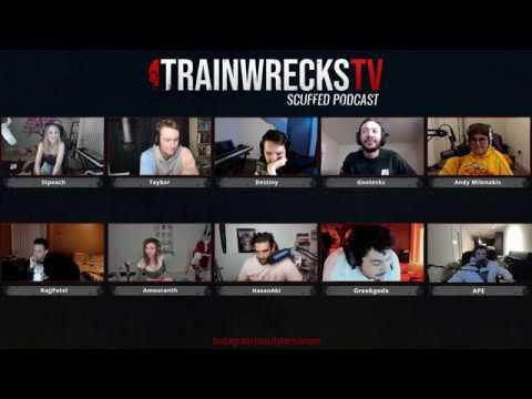 Trainwreckz PODCAST W/,Greekgodx, Stpeach, Amouranth, Rajjpatel, XQC (TWITCH VOD 31/01/2019)