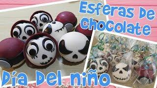 DIA DEL NIÑO (ESFERAS DE CHOCOLATE RELLENAS)