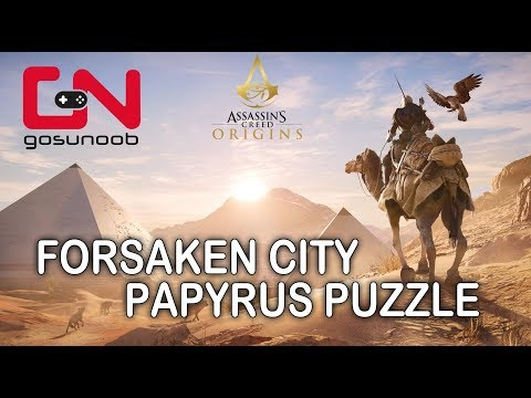 Assassin's Creed: Origins - Forsaken City Papyrus Puzzle - How to solve