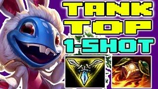 FIZZ ONE SHOT | Tank Top Lane | Fizz vs Riven | League of Legends 7.5 | Patch 7.5