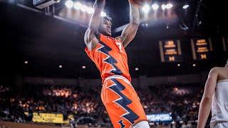 Illinois Men's Basketball Highlights at Michigan 1/6/18