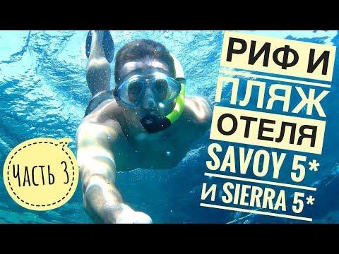 Самый лучший обзор пляжа Savoy 5* и Sierra 5*, обзор рифа,захода в море, бара и другое. Савой 5*
