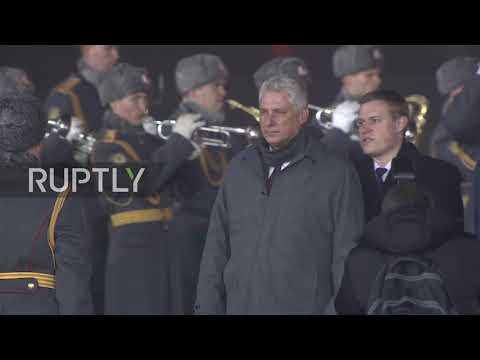 Russia: Cuban president arrives in Moscow on official visit