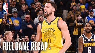 Download NUGGETS vs WARRIORS | Klay Thompson Knocks Down 9 Three-Pointers | March 8, 2019 Mp3 and Videos