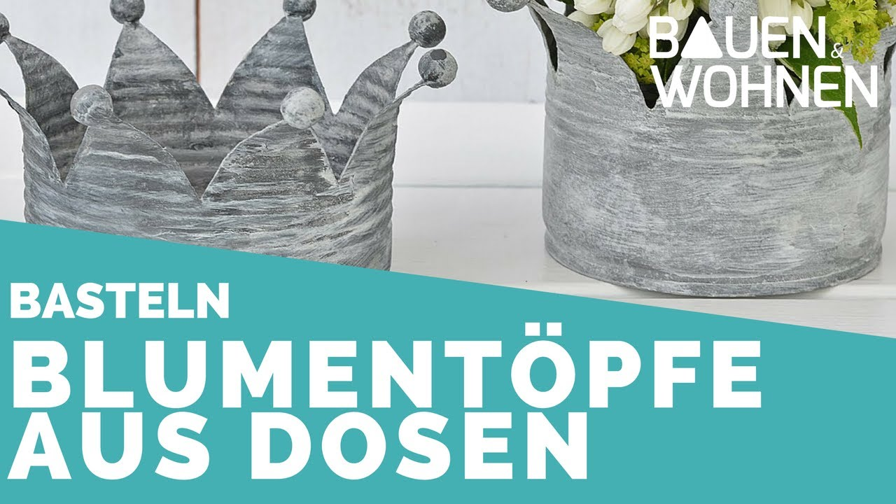blument pfe aus dosen basteln mit dekoideenreich interview youtube. Black Bedroom Furniture Sets. Home Design Ideas