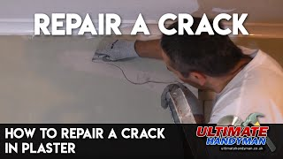 How to repair a crack in plaster