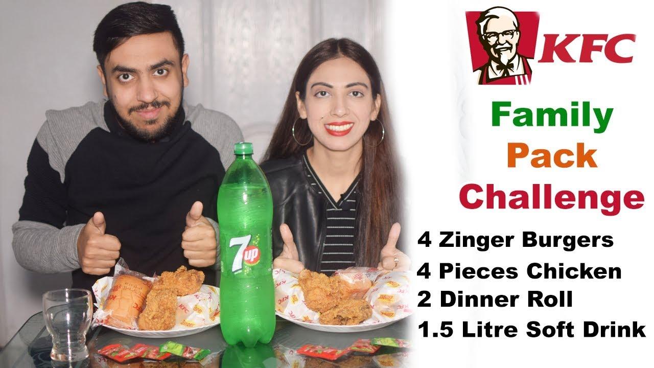 KFC Family Box Challenge | KFC Burger, Chicken, Dinner Roll | Food Challenge | Life With Amna