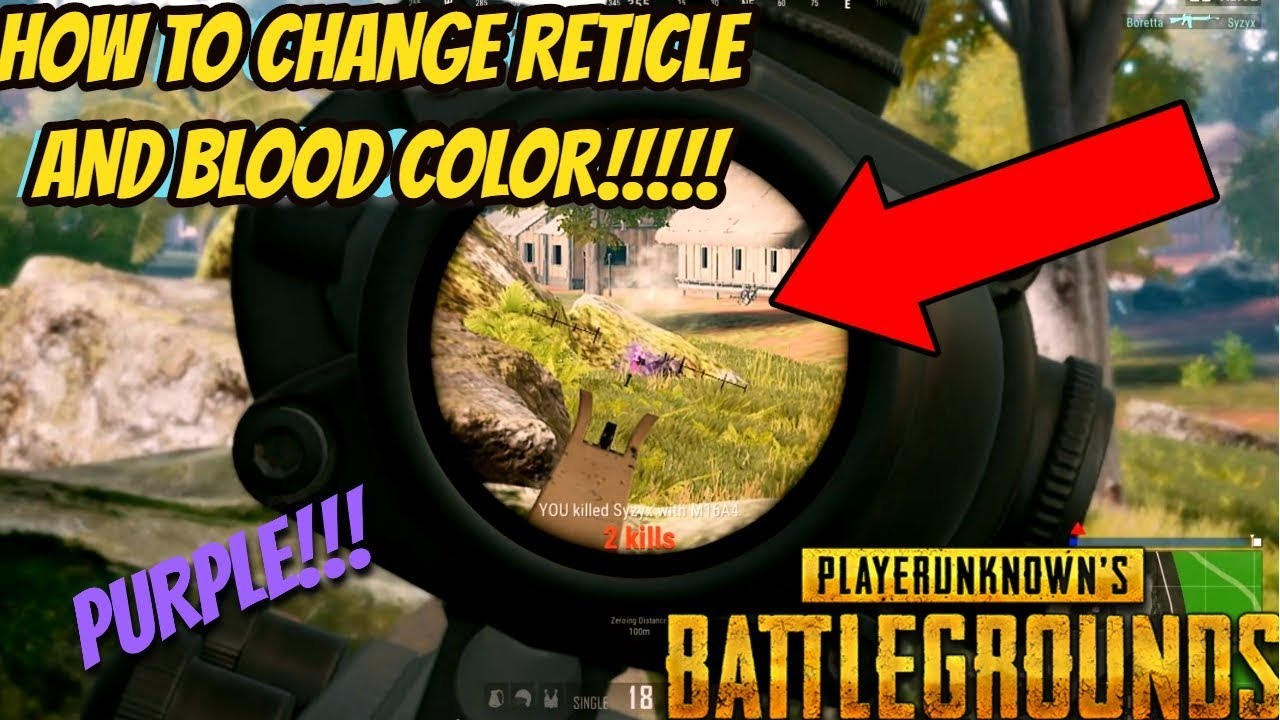 How To Change RETICLE and BLOOD COLOR in PUBG