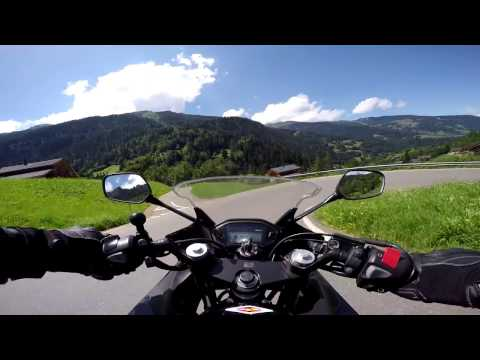 Cruising the Swiss Alps on the Honda cbr500r Motorcycle