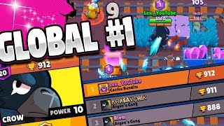 WORLDS BEST CROW | How I pushed to #1 Global in Brawl Stars | Tips and Tricks