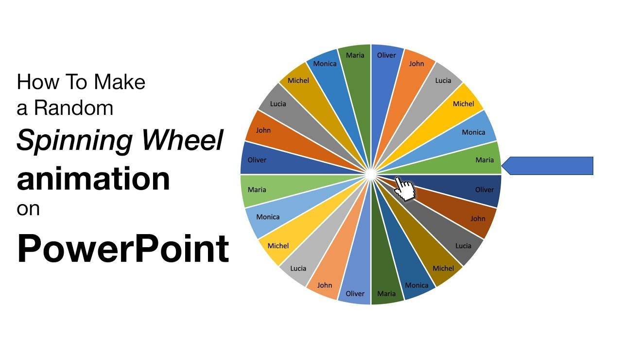 How to make a random picker wheel animation on PowerPoint
