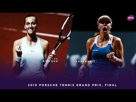 Petra Kvitova vs. Anett Kontaveit | 2019 Porsche Tennis Grand Prix Final | WTA Highlights