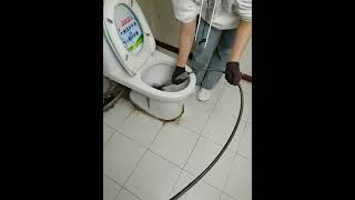 화장실 세면대 막힌 변기 뚫기 하수구 스프링 뚜러뻥