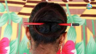 Hairstyles with Pencil  | Juda Hairstyles with Bun Stick By Suchi Planet